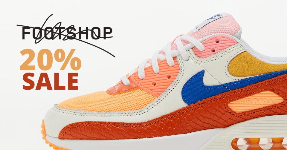 20% korting bij Footshop