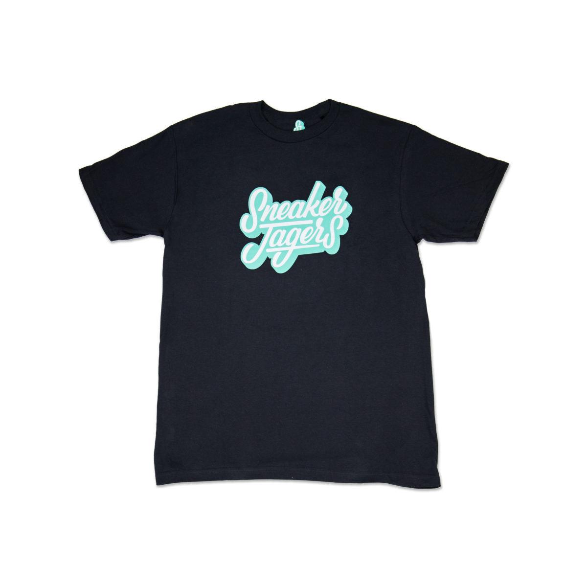 Sneakerjagers t-shirt black en clear jade