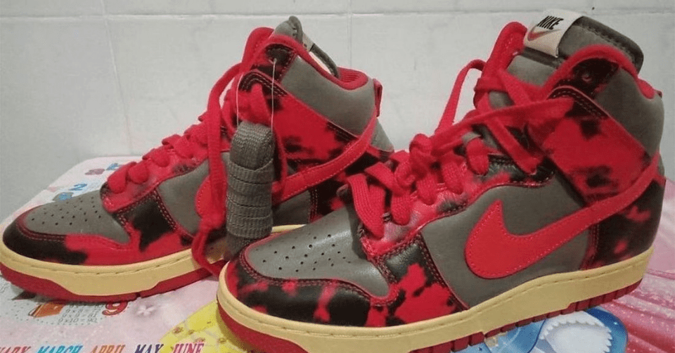 Nike Dunk High Red Camo
