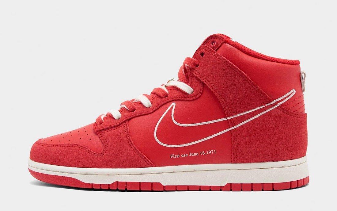 Nike Dunk High 'University Red'