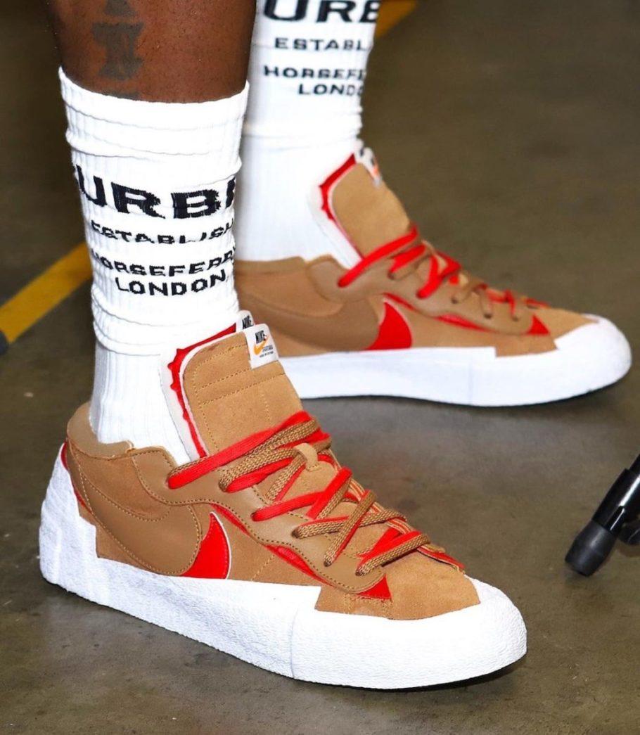 Sacai x Nike Blazer Low 'Light British Tan'