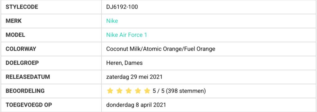 bestverkochte sneakers  DJ6192-100