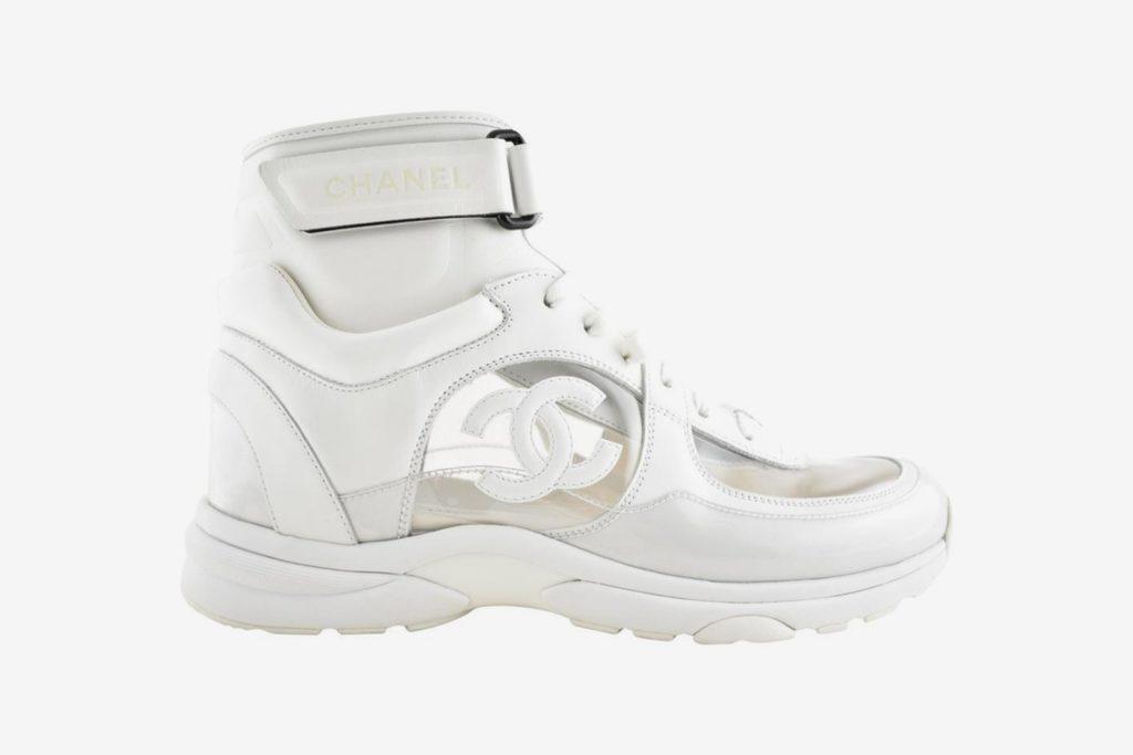 chanel sneakers hoog
