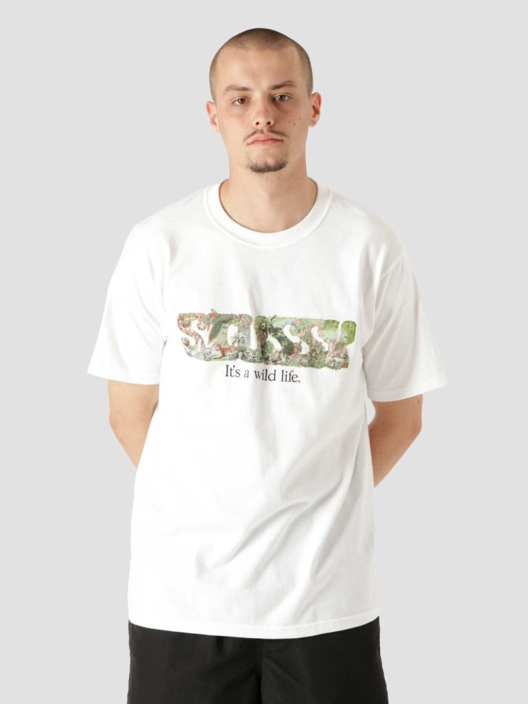 Stussy It's A Wild Life T-Shirt White