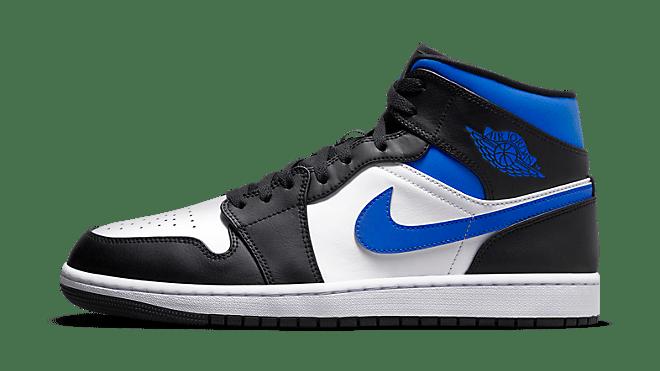 554724-140 Jordan 1 Mid White Black Royal Hottest Sneaker Releases