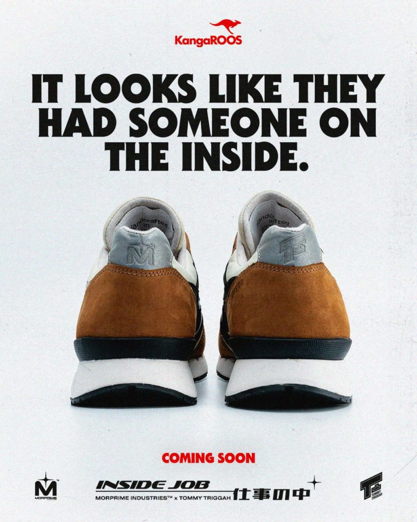 Morprime x Tommy Triggah x Kangaroos Inside Job sneaker