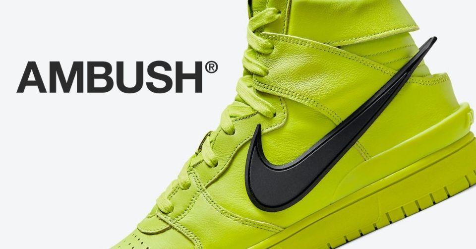 AMBUSH x Nike Dunk High 'Flash Lime'