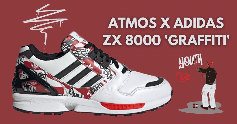 atmos x adidas ZX 8000 'Graffiti'