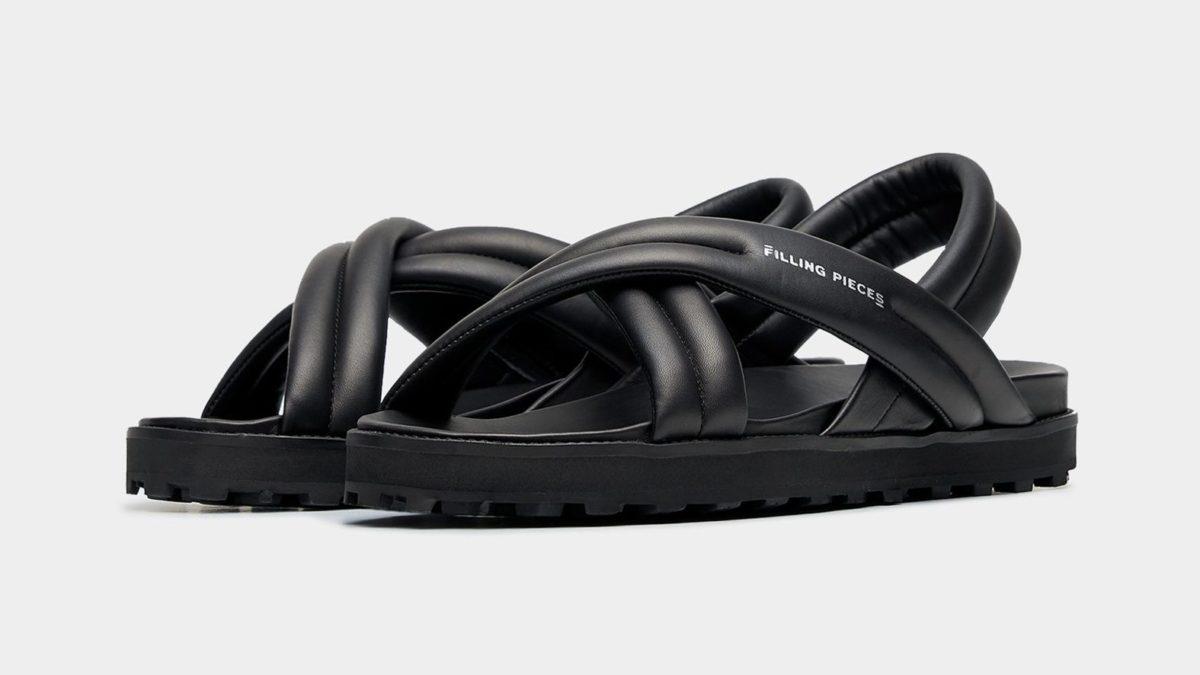Filling Pieces Innovation Footwear Cross Sandals All Black