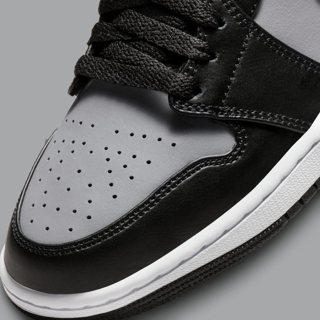 Air Jordan 1 Mid 'Grey/Black/Red'