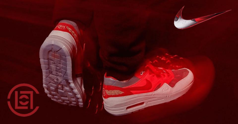 CLOT x Nike Air Max 1 'Kiss of Death - Solar Red'