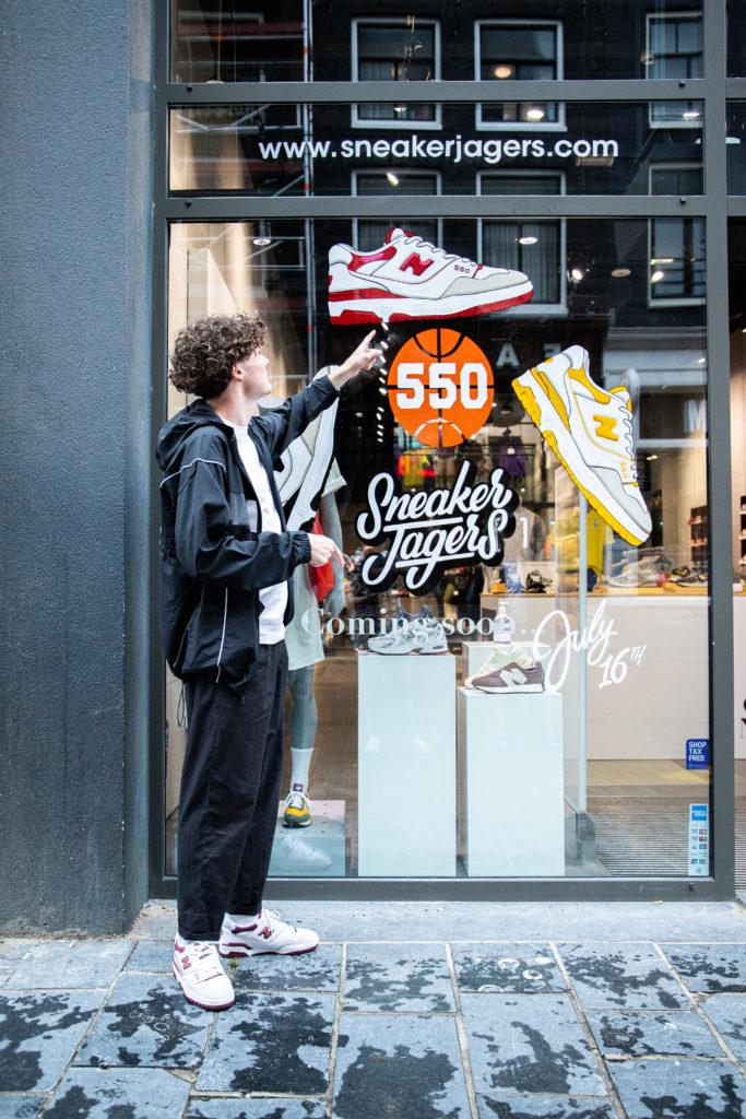 New Balance 550 sneakerjagers giveaway instructies
