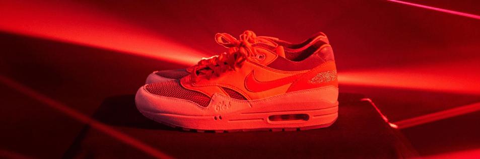 CLOT x Nike Air Max 1 'Kiss of Death Solar Red'