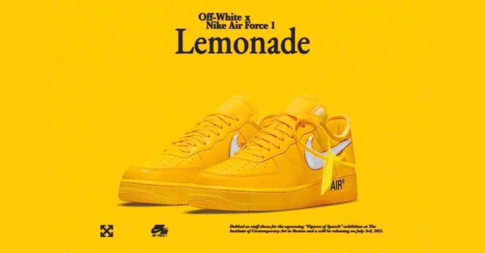 Off-White x Nike Air Force 1 'Lemonade'