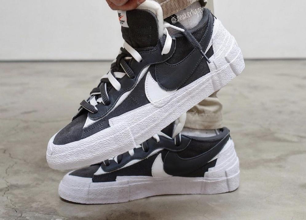 sacai x Nike Blazer Low 'Black & White'