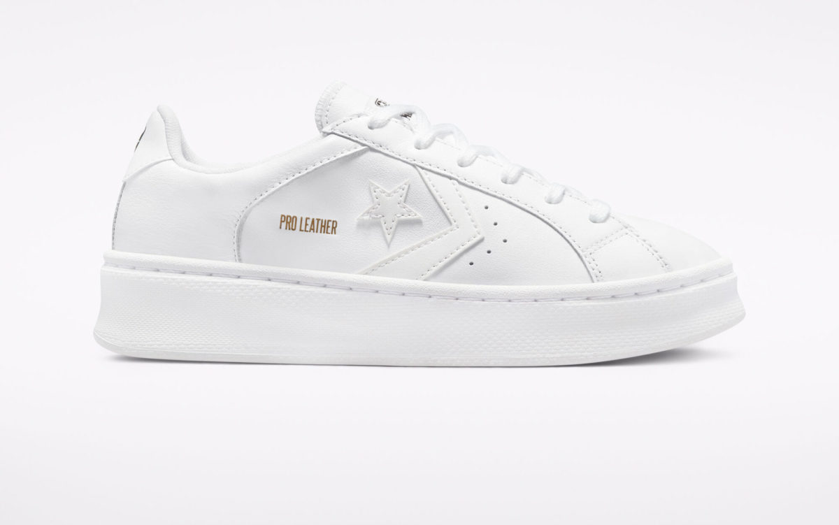 white plateau shoes