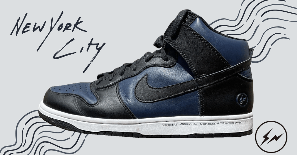 Fragment x Nike Dunk High 'New York'
