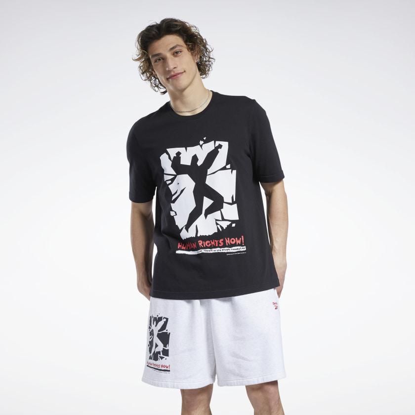 Reebok Human Rights Now T-shirt zwart