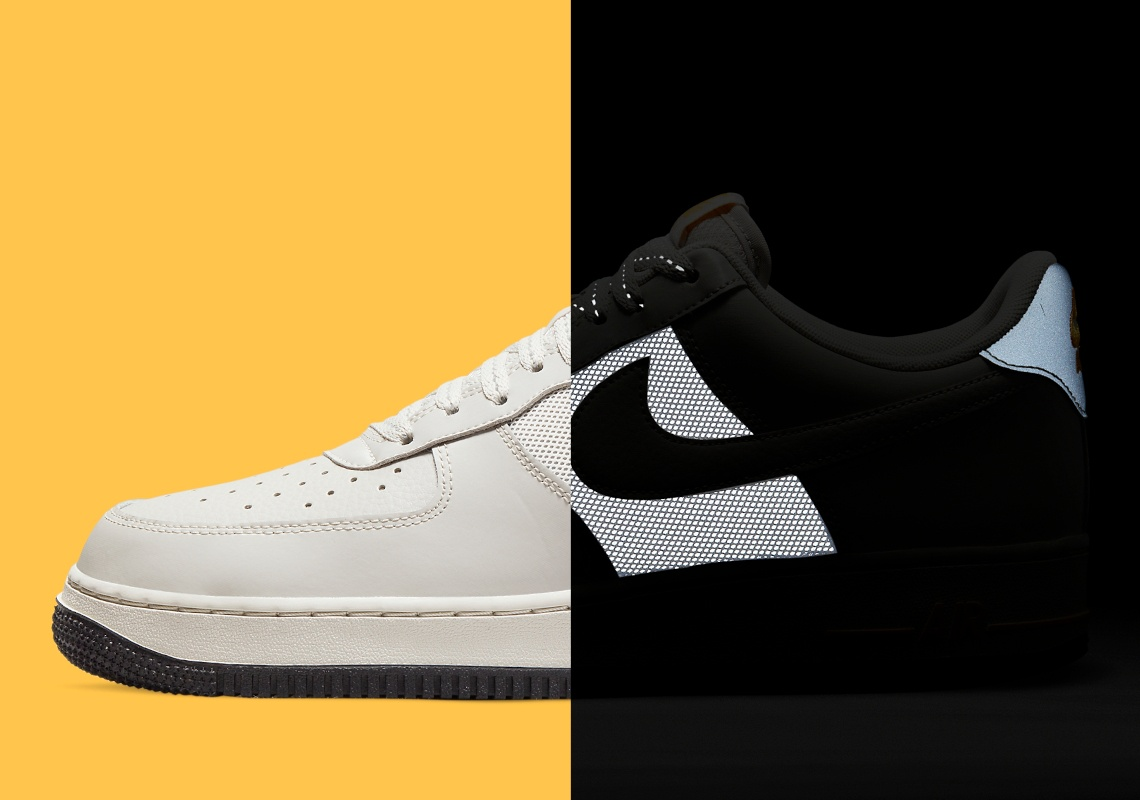 Deze Nike Air Force 1 Low reflecteert in het donker