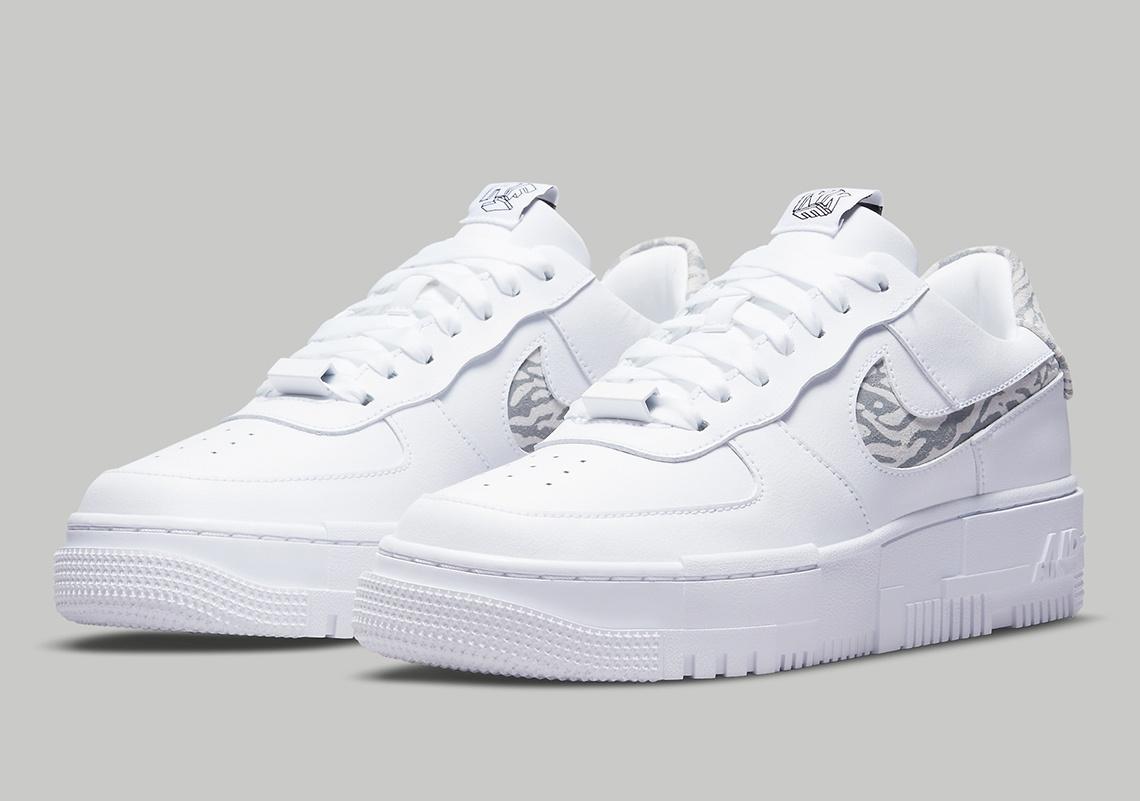 Nike Air Force 1 Pixel 'Zebra'