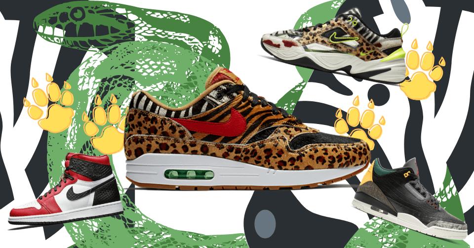 Animal print sneakers die je wil hebben 🐆🐍