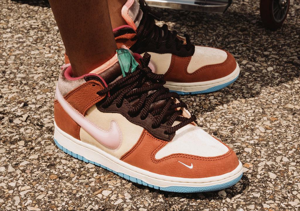 Social Status x Nike Dunk Mid 'Chocolate Milk'