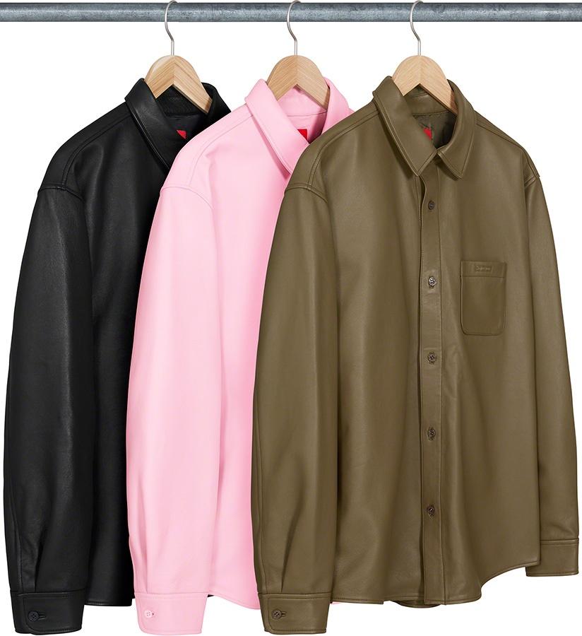 Supreme Leather Shirt FW 21