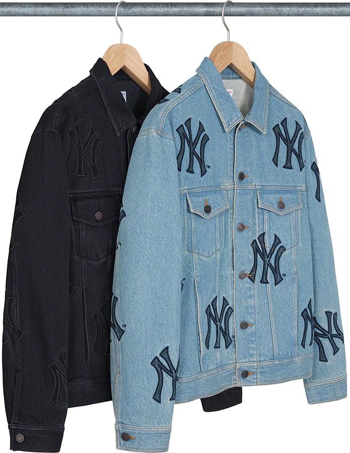 Supreme New York Yankees Denim Trucker Jacket