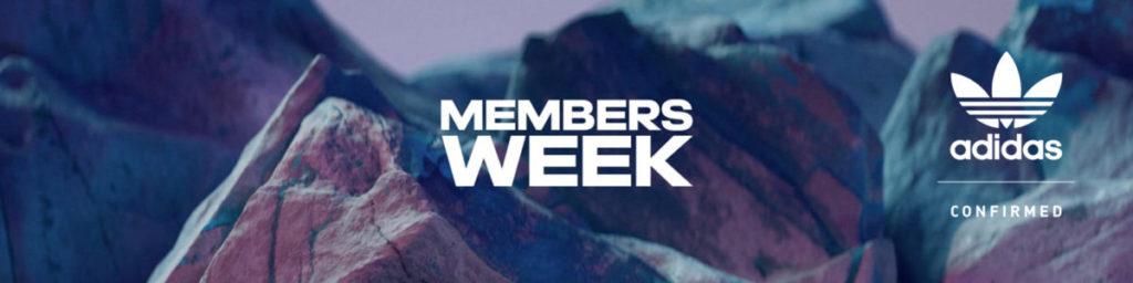 adidas CONFIRMED members week