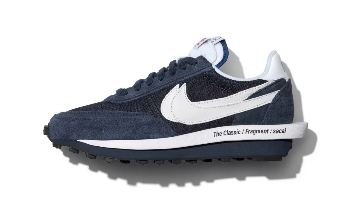 sacai x Nike LDWaffle x Fragment donkerblauw