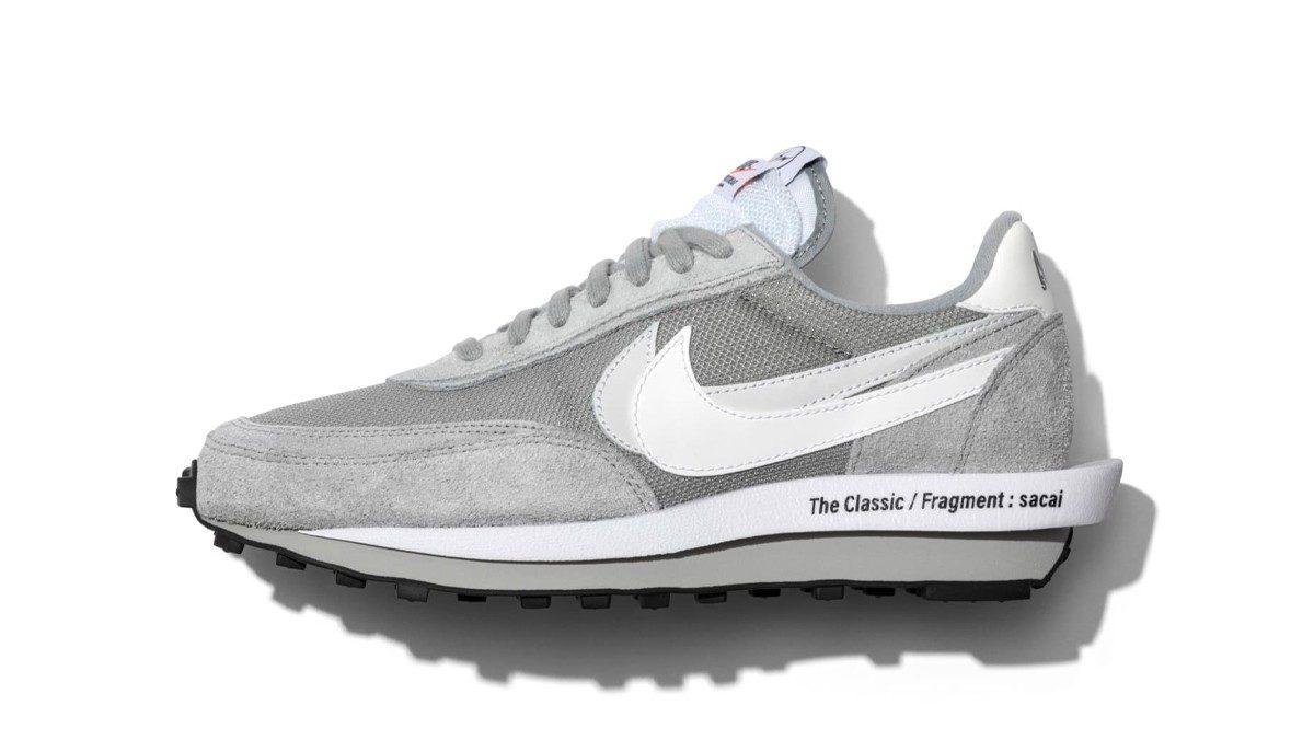 sacai x Nike LDWaffle x Fragment lichtgrijs