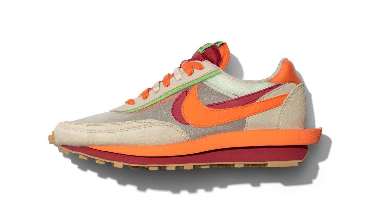sacai x Nike LDWaffle x CLOT 'Orange Blaze'
