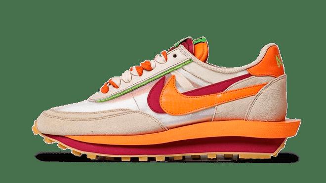 CLOT x sacai x Nike LDWaffle 'Orange Blaze'