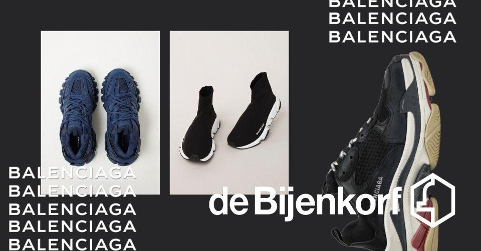 Balenciaga schoenen Bijenkorf