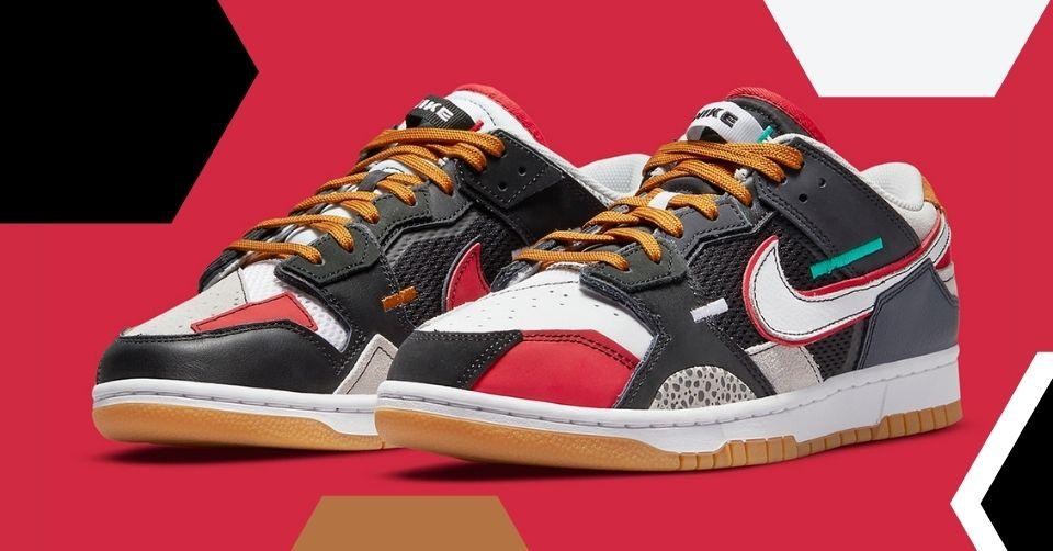 Nike Dunk Low Scrap 'University Red'