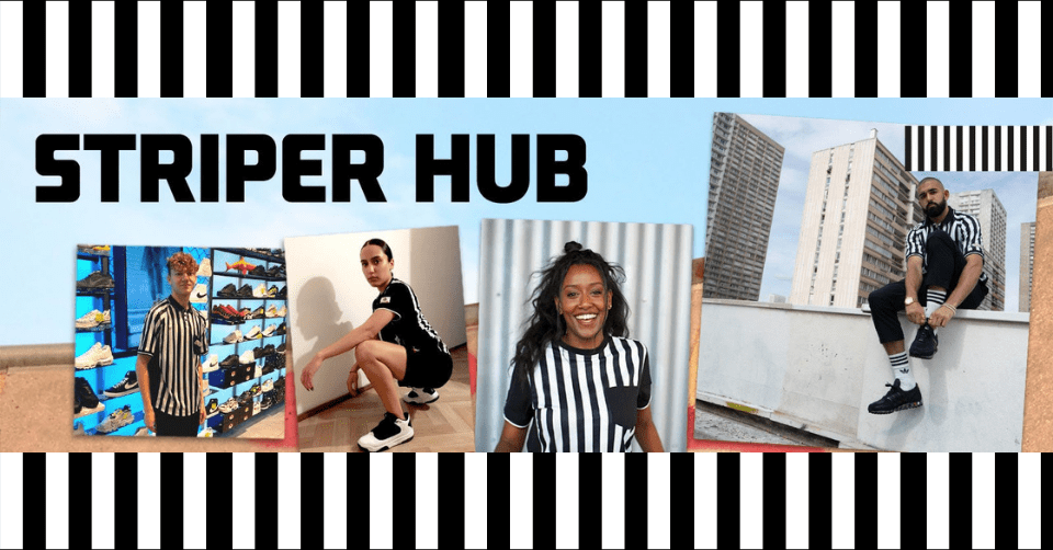 Foot Locker Striper Hub 🖤 krijg online inspiratie