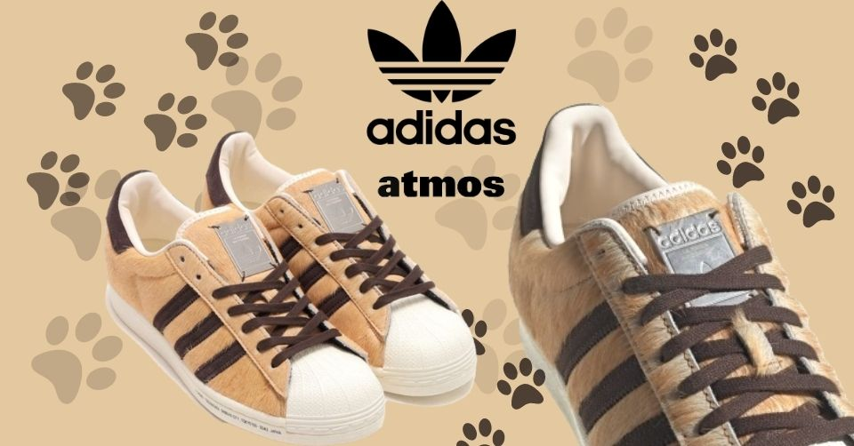 De adidas x atmos Superstar Hachiko is een furry sneaker