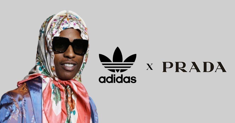 ASAP Rocky gespot in nieuwe sneaker Prada x adidas