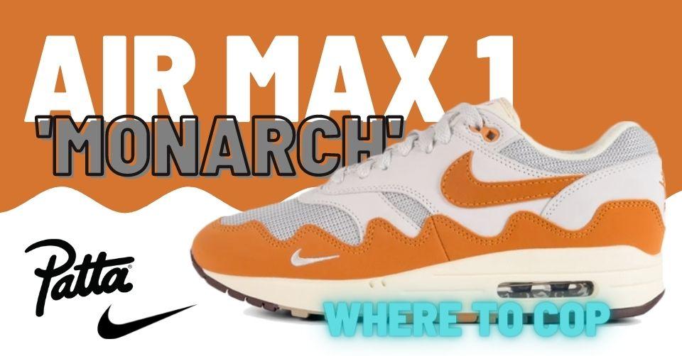 Patta x Nike Air Max 1 'Monarch'