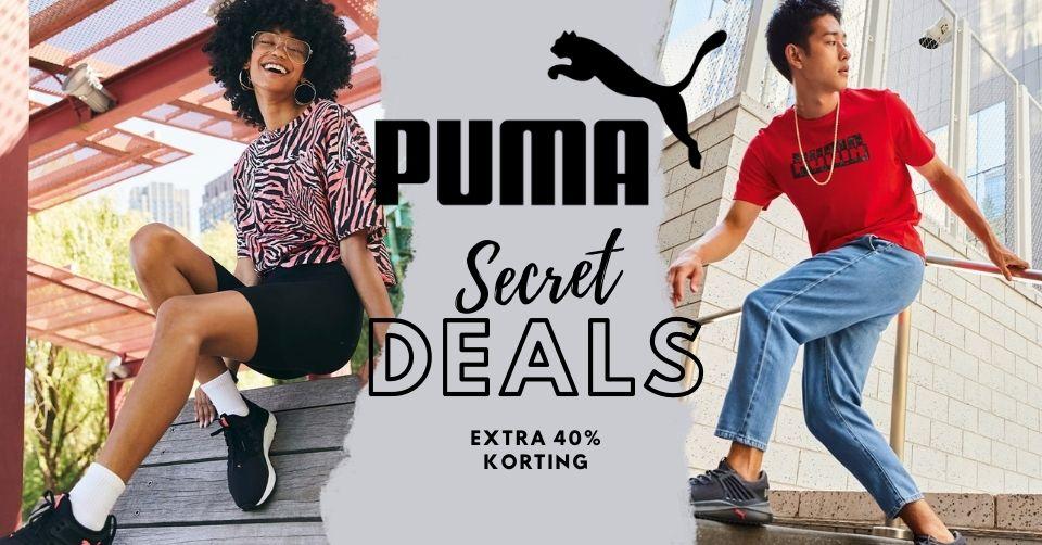 Sale met PUMA Secret Deals en kortingscode