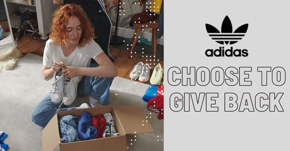 adidas 'Choose to Give Back' helpt bij verkopen kleding en schoenen