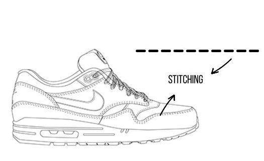 stitching sneaker