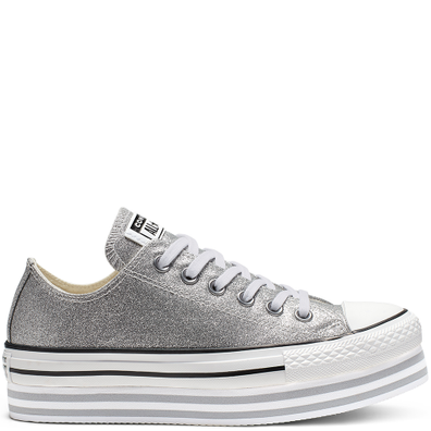 Chuck Taylor All Star Shiny Metal Lift Low Top productafbeelding
