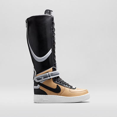 Nike Riccardo Tisci 'Beige Pack Air Force 1' boots - Zwart productafbeelding