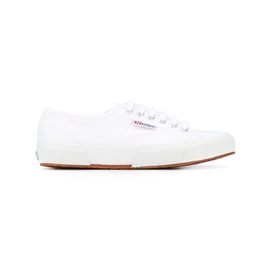 Superga geperforeerde vetersneakers - Wit productafbeelding