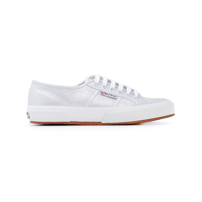 Superga geperforeerde vetersneakers - Grijs productafbeelding