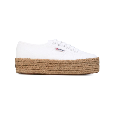 Superga veter plateausneakers - Wit productafbeelding