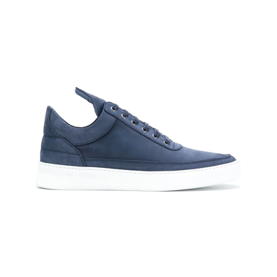 Filling Pieces vetersneakers - Blauw productafbeelding