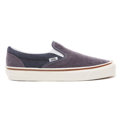 Vans navy blue and grey 98 DX corduroy slip on productafbeelding