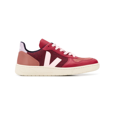 Veja Sneakers met colourblocking - Rood productafbeelding
